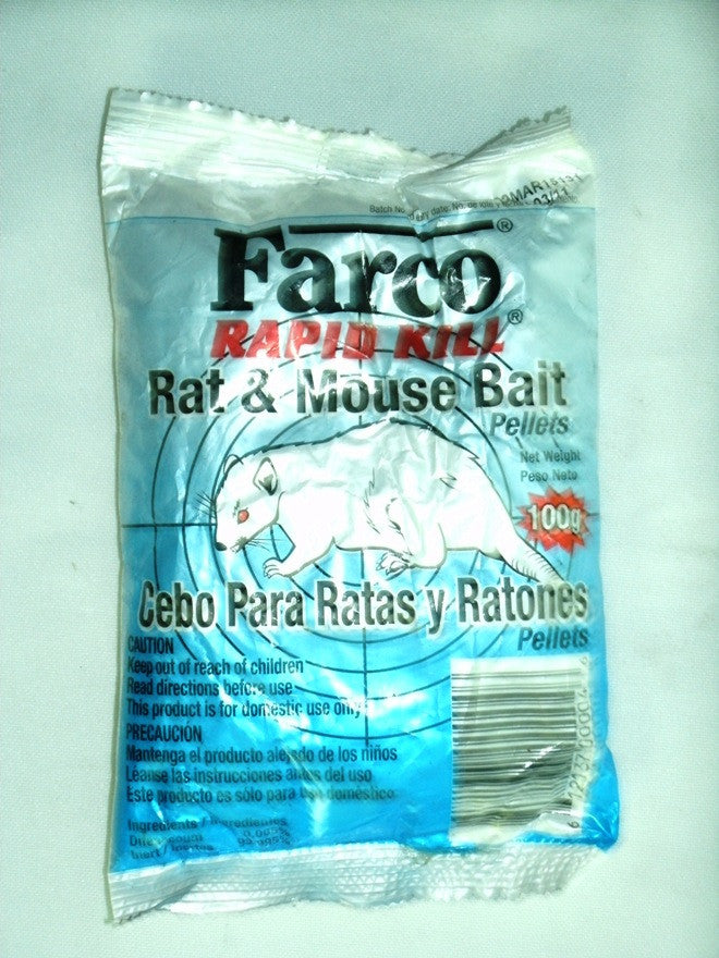 FARCO RAPID KILL RAT&MOUSE BAIT 100G
