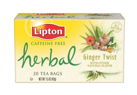 LIPTON HERBAL GINGER TWIST 20 TEA 42G