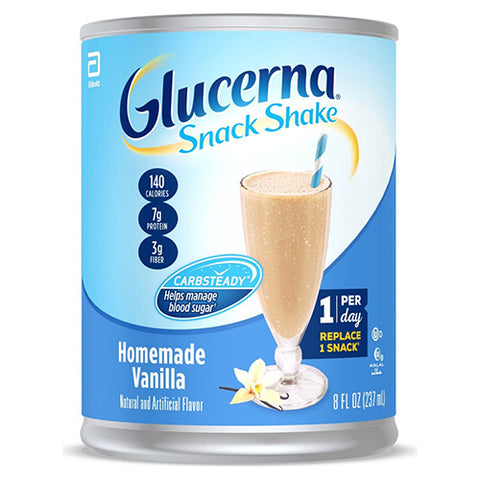 GLUCERNA SNACK SHAKE HOMEADE VANILLA CAN 237ML