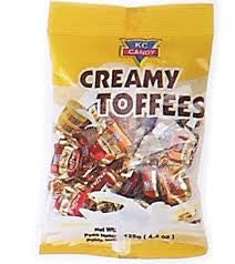 KC CANDY CREAMY TOFFEES 90g