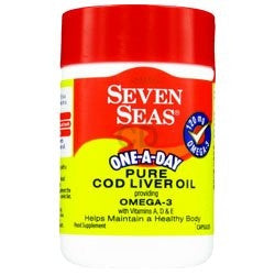 SEVEN SEAS PURE COD LIVER OIL WITH OMEGA-3 120 CAPSULES