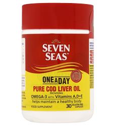 SEVEN SEAS ONCE-A-DAY COD LIVER OIL WITH OMEGA-3 30`S
