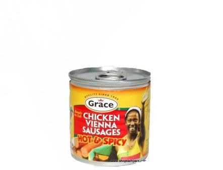 GRACE HOT & SPICY CHICKEN VIENNA SAUSAGE 140G