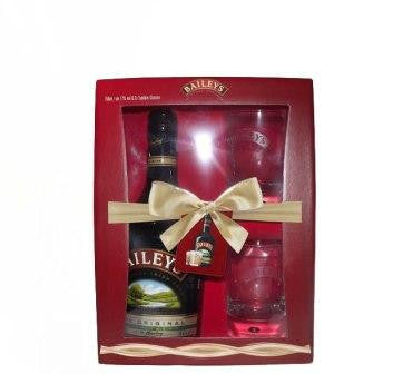 BAILEYS IRISH CREAM GIFT BOX WITH 2GLASS TUMBLER 750ML