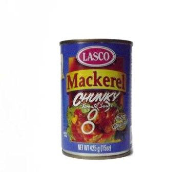 LASCO CHUNKY MACKEREL IN TOMATO SAUCE 425G
