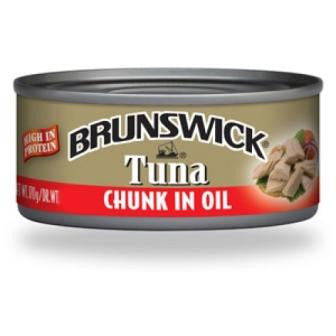 BRUNSWICK TUNA CHUNKS IN OIL 170G