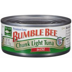 BUMBLE BEE CHUNK TUNA IN VEGETABLE OIL 170G