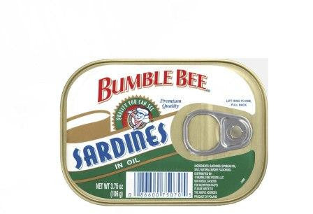 BUMBLE BEE SARDINES IN OIL 106G