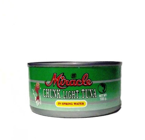 MIRACLE CHUNK LIGHT TUNA IN SPRING WATER 185G