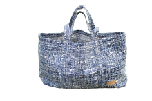 Load image into Gallery viewer, Upcycled Nomad Tote, Navy & White