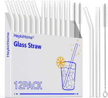 Load image into Gallery viewer, Family Pack Reusable Glass Straws, Clear