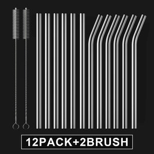 Family Pack Reusable Glass Straws, Clear