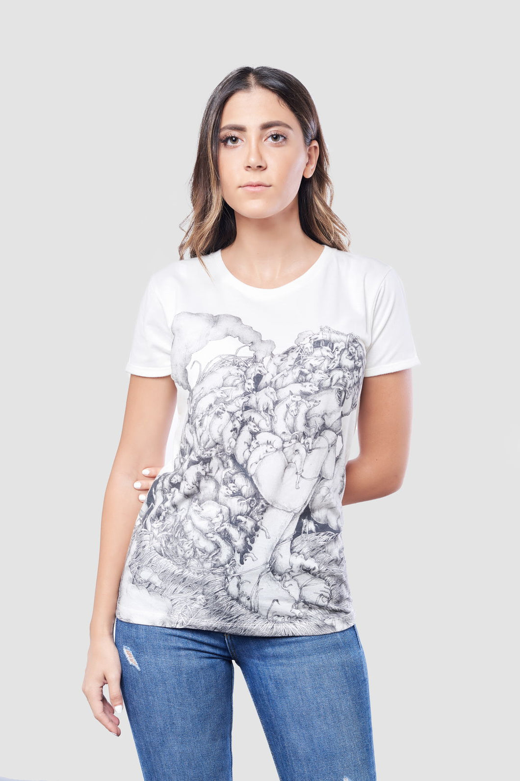 Skeletons In Your Closet T-Shirt for Women, 100% Organic Egyptian Cotton