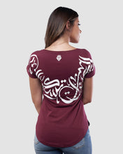 Load image into Gallery viewer, The Dwelling T-Shirt for Women, 100% Organic Egyptian Cotton, Chestnut
