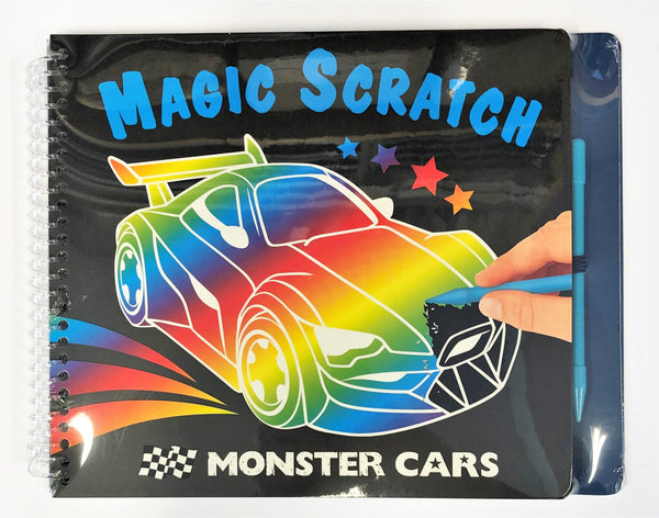 Present: Monster cars scratch book