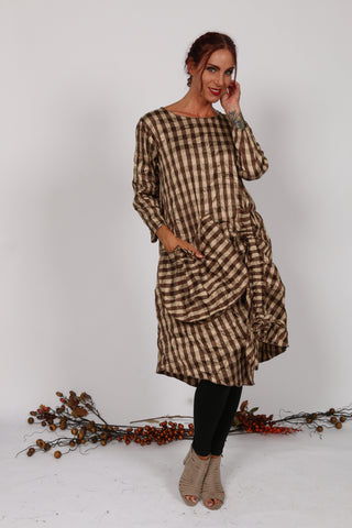 SID719 Plaid Dress with pockets