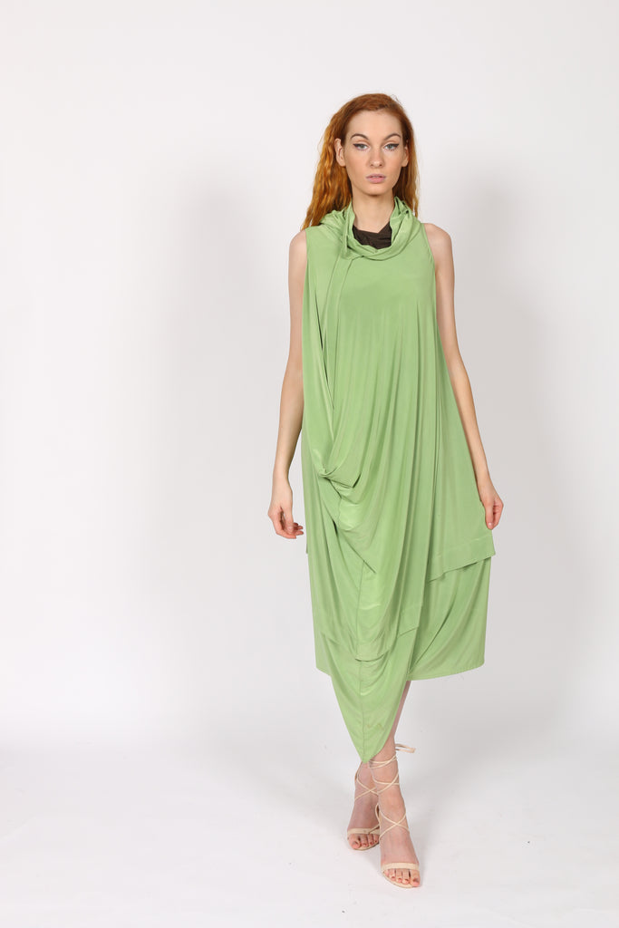Green women jersey dress