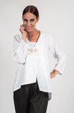 The Elizabeth Linen Jacket White