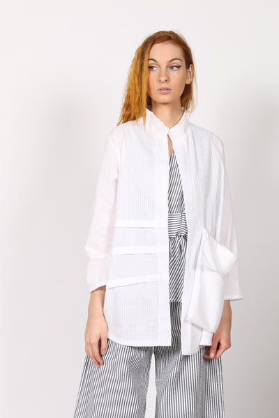 White Linen women jacket