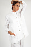 THE GLAMOUR LINEN JACKET WHITE