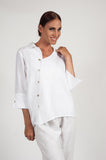 MANDY TOP WHITE LINEN