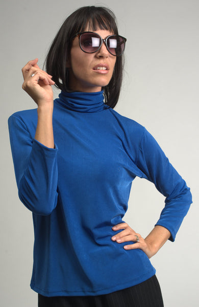 blue slinky top