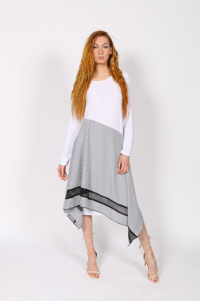 White jersey woman dress
