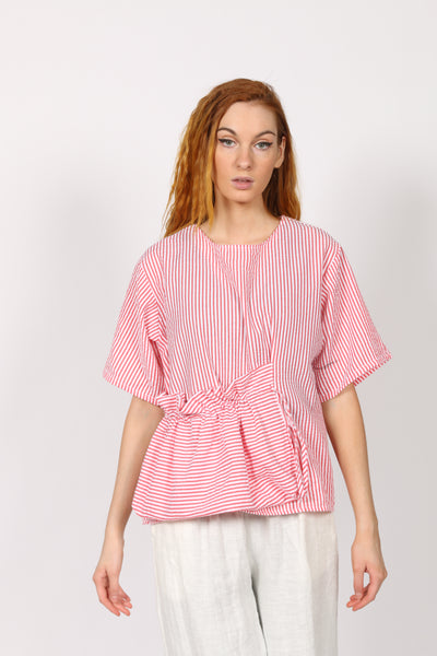 Seersucker woman Top with pocket