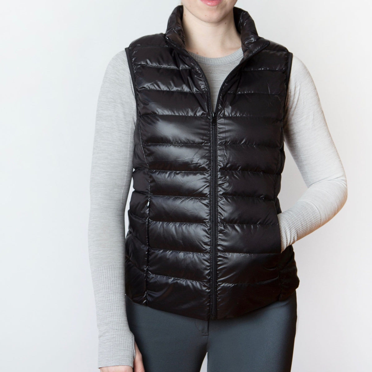 TKEQ Jacket XS EZ Packable Down Vest- Classic Black equestrian team apparel online tack store mobile tack store custom farm apparel custom show stable clothing equestrian lifestyle horse show clothing riding clothes horses equestrian tack store