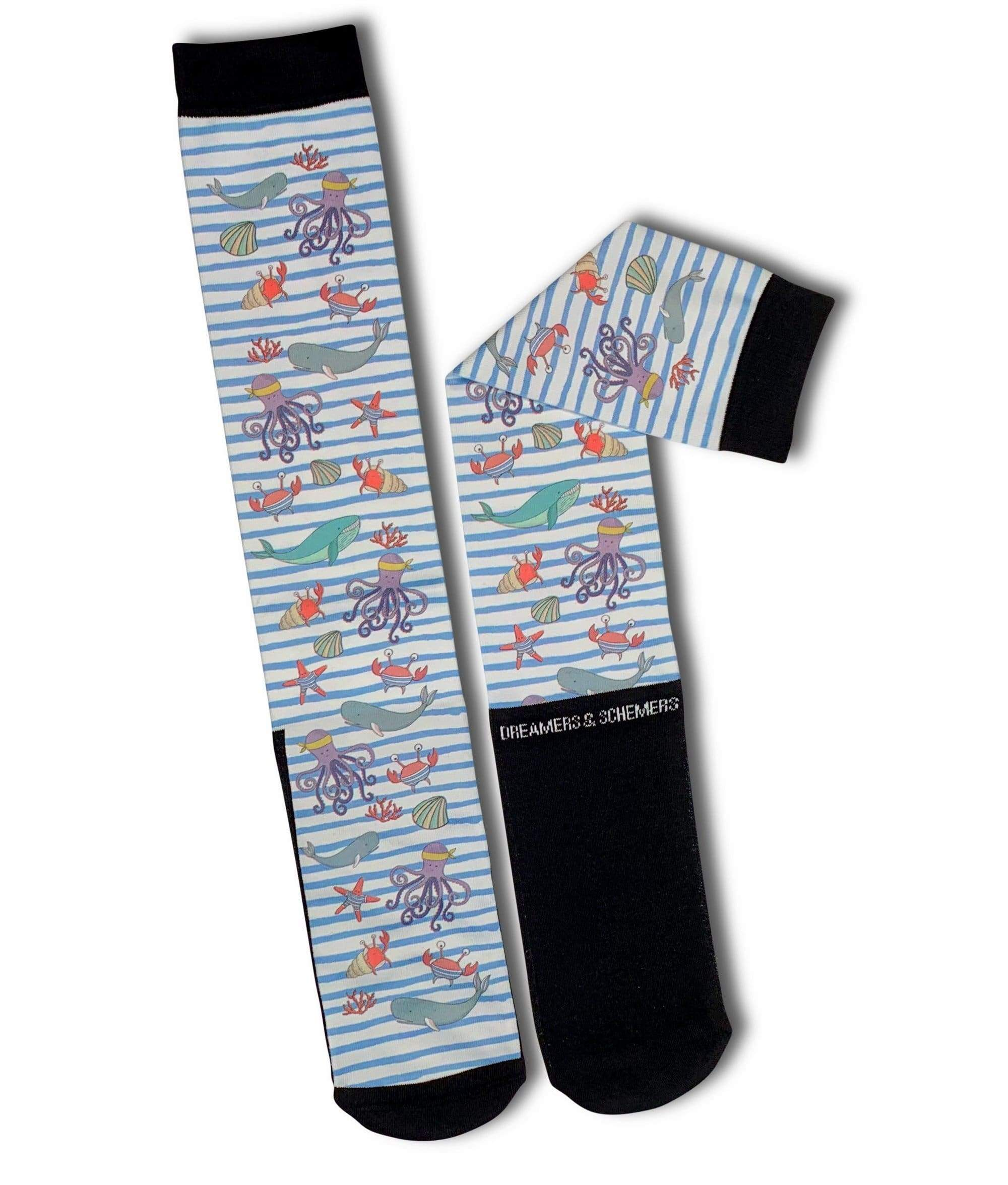 Dreamers & Schemers Socks Dreamers & Schemers Under the Sea equestrian team apparel online tack store mobile tack store custom farm apparel custom show stable clothing equestrian lifestyle horse show clothing riding clothes horses equestrian tack store