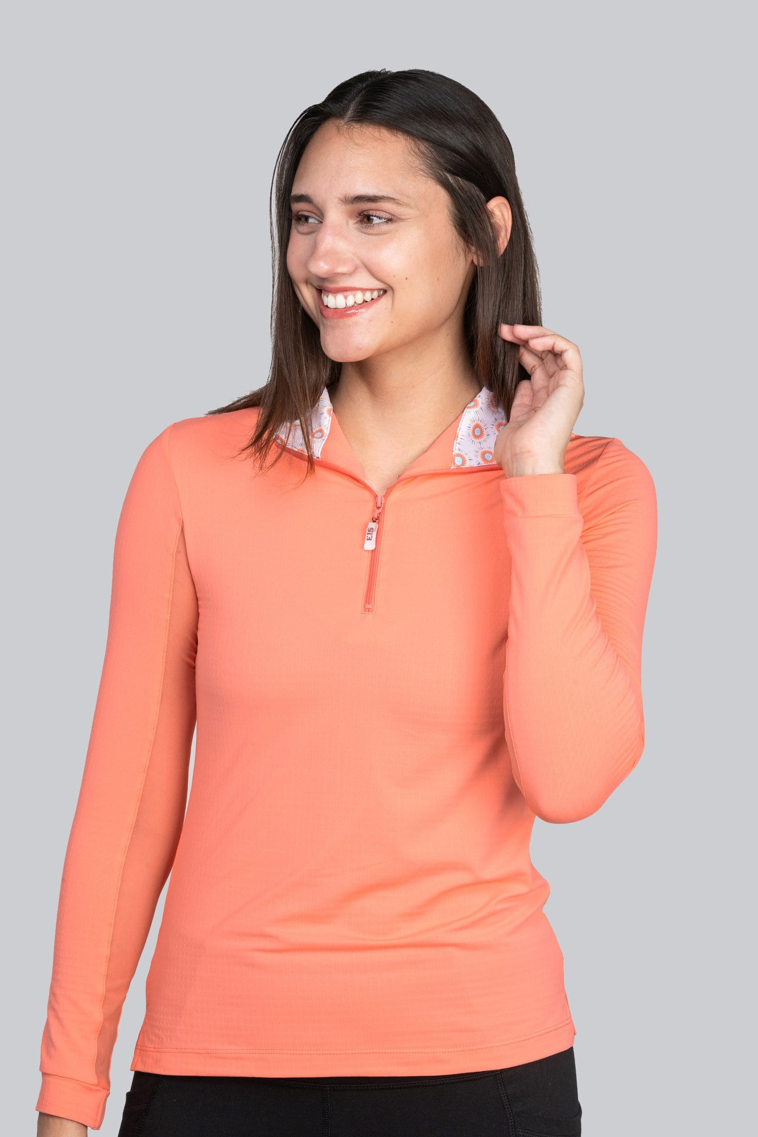 EIS Shirt XSmall EIS Sorbet/Sunburst Pattern Sunshirt equestrian team apparel online tack store mobile tack store custom farm apparel custom show stable clothing equestrian lifestyle horse show clothing riding clothes horses equestrian tack store