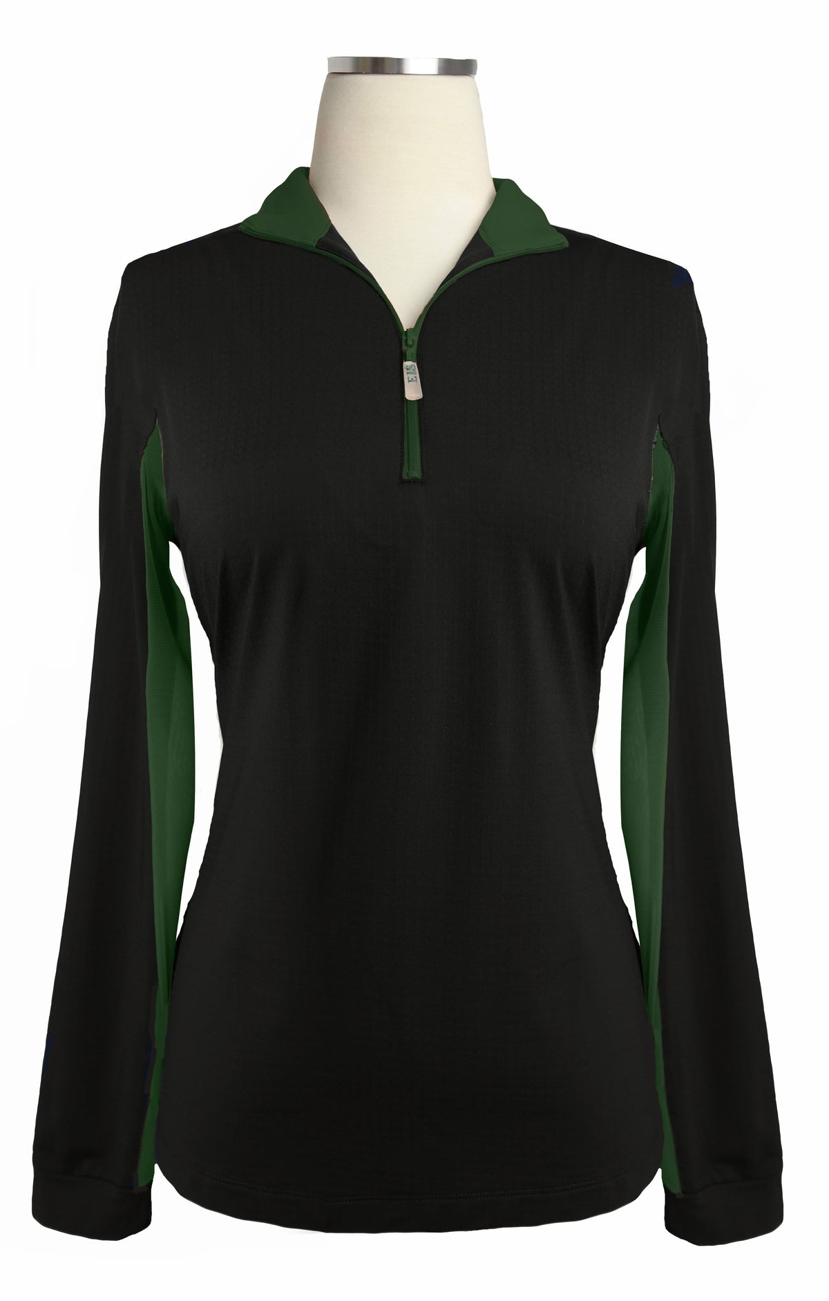 EIS Sunshirt Small / Black/Hunter Green EIS Limited Edition Black/Hunter Green equestrian team apparel online tack store mobile tack store custom farm apparel custom show stable clothing equestrian lifestyle horse show clothing riding clothes horses equestrian tack store