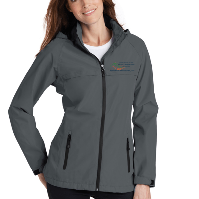 Equestrian Team Apparel Custom Team Jackets Ladies / XSmall Equestrian Resolutions Rain Coat equestrian team apparel online tack store mobile tack store custom farm apparel custom show stable clothing equestrian lifestyle horse show clothing riding clothes horses equestrian tack store