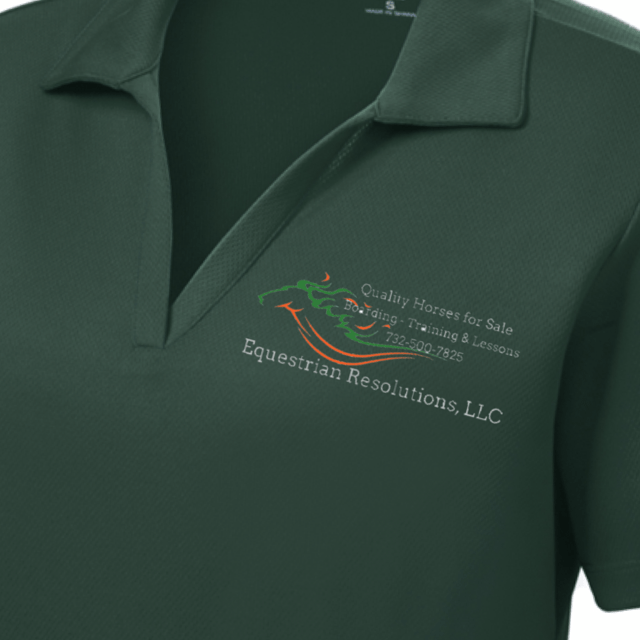 Equestrian Team Apparel Custom Team Shirts Ladies / Youth Equestrian Resolutions Women's & Men's Polo Short Sleeve Shirt equestrian team apparel online tack store mobile tack store custom farm apparel custom show stable clothing equestrian lifestyle horse show clothing riding clothes horses equestrian tack store