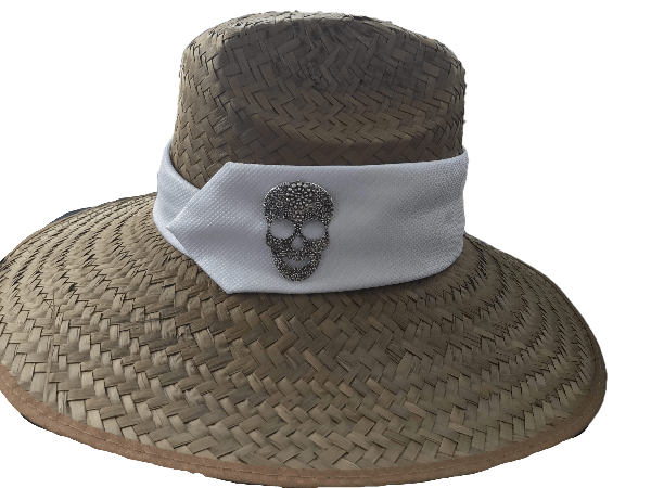 Island Girl Sun Hat One Size Island Girl Hats / White Skull equestrian team apparel online tack store mobile tack store custom farm apparel custom show stable clothing equestrian lifestyle horse show clothing riding clothes horses equestrian tack store