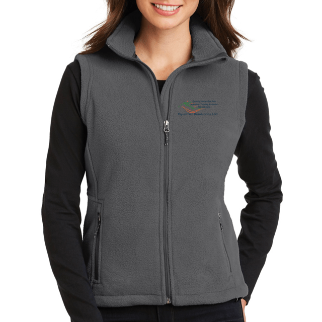 Equestrian Team Apparel Custom Team Jackets Ladies / XSmall Equestrian Resolutions Fleece Softshell Vest equestrian team apparel online tack store mobile tack store custom farm apparel custom show stable clothing equestrian lifestyle horse show clothing riding clothes horses equestrian tack store