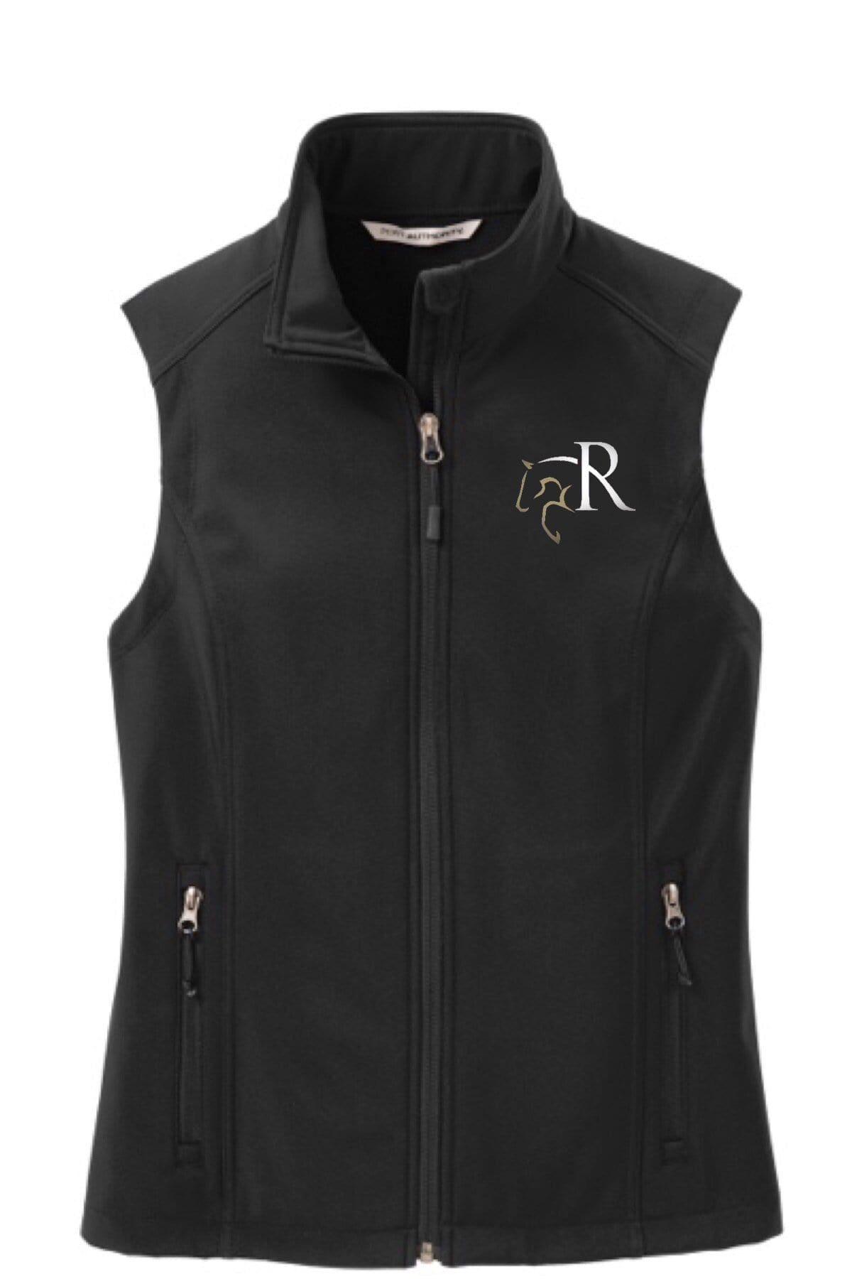 Equestrian Team Apparel Custom Team Jackets Ladies / XS Rivers Edge Farm Softshell Vest equestrian team apparel online tack store mobile tack store custom farm apparel custom show stable clothing equestrian lifestyle horse show clothing riding clothes horses equestrian tack store
