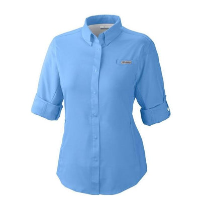 Columbia Shirts Columbia Women's White Cap PFG Tamiami™ II Lg. Sleeve Shirt equestrian team apparel online tack store mobile tack store custom farm apparel custom show stable clothing equestrian lifestyle horse show clothing riding clothes horses equestrian tack store