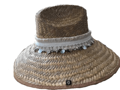 Island Girl Sun Hat One Size Island Girl Hats / Tan Fringe equestrian team apparel online tack store mobile tack store custom farm apparel custom show stable clothing equestrian lifestyle horse show clothing riding clothes horses equestrian tack store