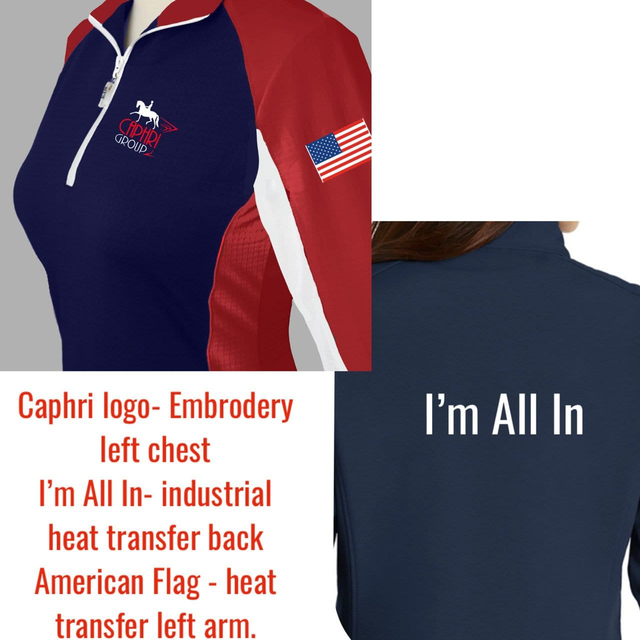 Equestrian Team Apparel Custom Team Shirts XSmall Caphri Group Sunshirts equestrian team apparel online tack store mobile tack store custom farm apparel custom show stable clothing equestrian lifestyle horse show clothing riding clothes horses equestrian tack store