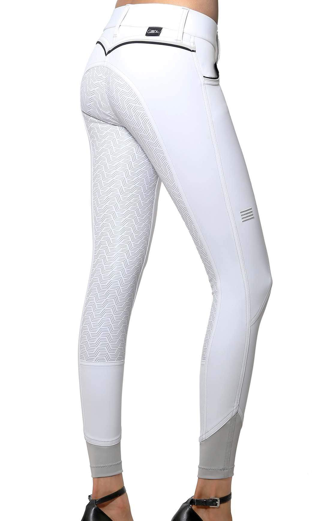 GhoDho Breeches sz 22 / White GhoDho Adena Full Seat Breeches equestrian team apparel online tack store mobile tack store custom farm apparel custom show stable clothing equestrian lifestyle horse show clothing riding clothes horses equestrian tack store