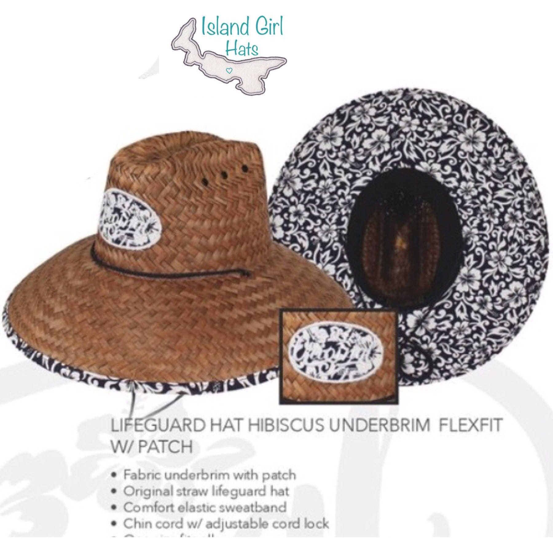 Island Girl Sun Hat One Size / Navy Hibiscus Island Girl Hats / Navy Hibiscus equestrian team apparel online tack store mobile tack store custom farm apparel custom show stable clothing equestrian lifestyle horse show clothing riding clothes horses equestrian tack store