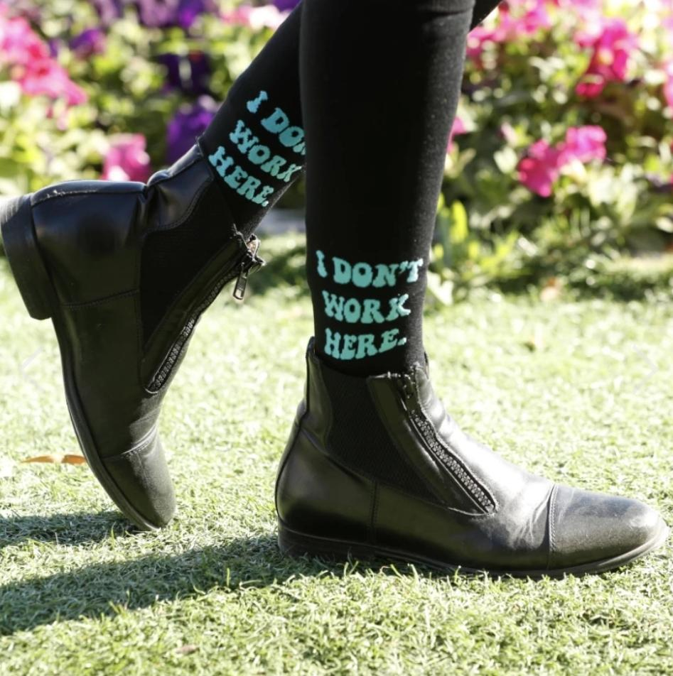Dreamers & Schemers Socks Dreamers & Schemers / I Don't...Knit Riding Boot Socks equestrian team apparel online tack store mobile tack store custom farm apparel custom show stable clothing equestrian lifestyle horse show clothing riding clothes horses equestrian tack store