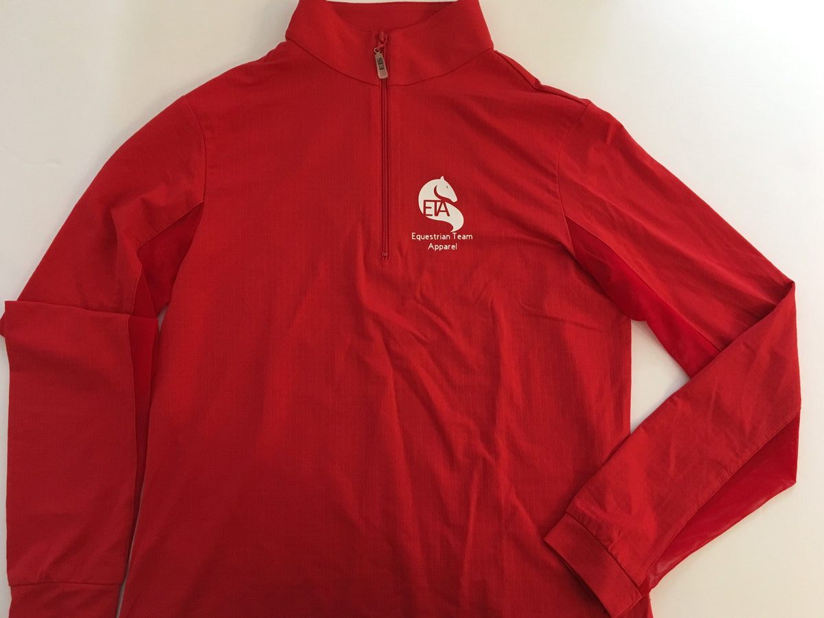 Equestrian Team Apparel Custom Shirts Vinyl logo on chest / Youth 8/10 Equestrian Team Apparel Custom Red Sunshirts equestrian team apparel online tack store mobile tack store custom farm apparel custom show stable clothing equestrian lifestyle horse show clothing riding clothes horses equestrian tack store