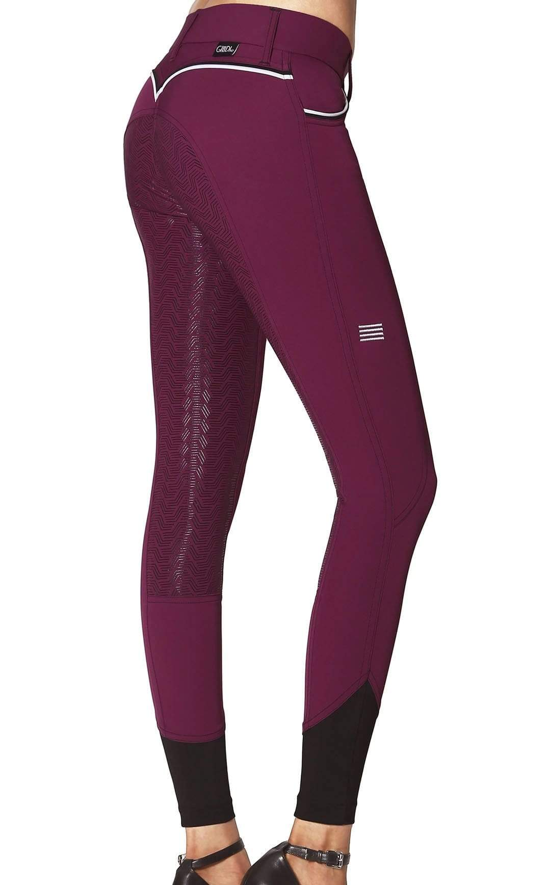 GhoDho Breeches sz 32 / Plum GhoDho Adena Full Seat Breeches equestrian team apparel online tack store mobile tack store custom farm apparel custom show stable clothing equestrian lifestyle horse show clothing riding clothes horses equestrian tack store