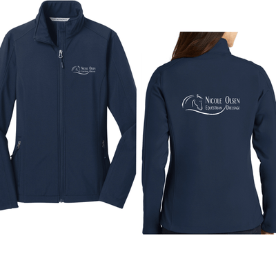 Equestrian Team Apparel Custom Team Shirts Ladies / XSmall Nicole Olsen Dressage Navy Women's & Men's Shell Jacket equestrian team apparel online tack store mobile tack store custom farm apparel custom show stable clothing equestrian lifestyle horse show clothing riding clothes horses equestrian tack store