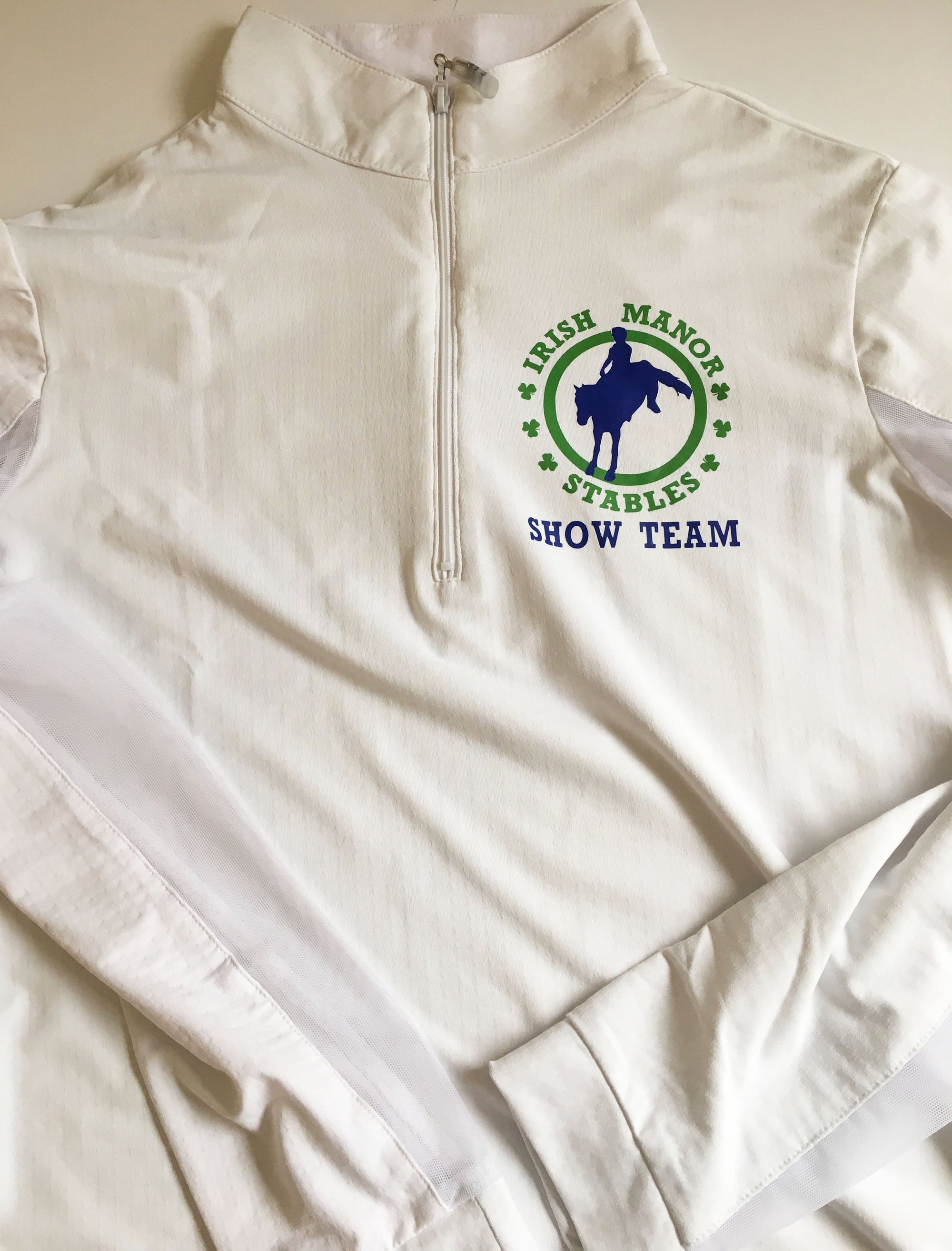 Equestrian Team Apparel Custom Team Shirts Youth 8/10 Irish Manor Show Team equestrian team apparel online tack store mobile tack store custom farm apparel custom show stable clothing equestrian lifestyle horse show clothing riding clothes horses equestrian tack store