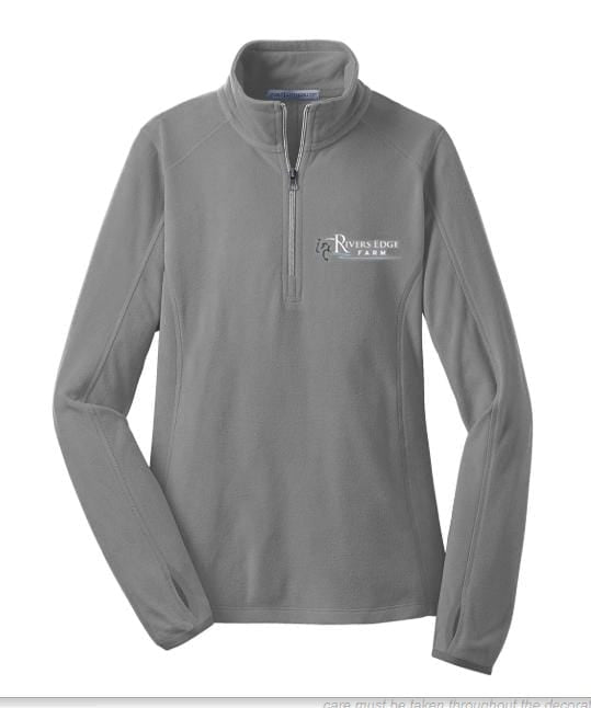 Equestrian Team Apparel Custom Team Shirts Ladies / XS Rivers Edge Farm Micro fleece pullover equestrian team apparel online tack store mobile tack store custom farm apparel custom show stable clothing equestrian lifestyle horse show clothing riding clothes horses equestrian tack store