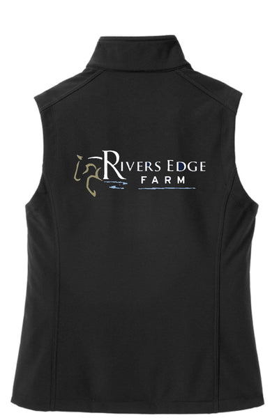 Equestrian Team Apparel Custom Team Jackets Rivers Edge Farm Softshell Vest equestrian team apparel online tack store mobile tack store custom farm apparel custom show stable clothing equestrian lifestyle horse show clothing riding clothes horses equestrian tack store