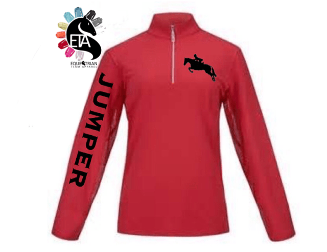Equestrian Team Apparel Custom Shirts xs / mock / pink Jumper equestrian team apparel online tack store mobile tack store custom farm apparel custom show stable clothing equestrian lifestyle horse show clothing riding clothes horses equestrian tack store